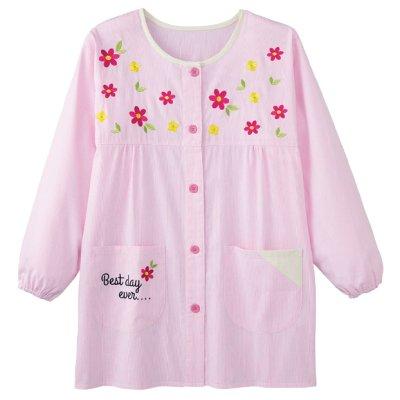 画像3: 小花刺しゅうスモック ピンク