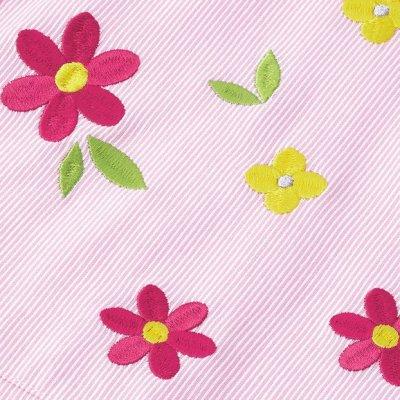 画像3: 小花刺しゅうスモック ブルー
