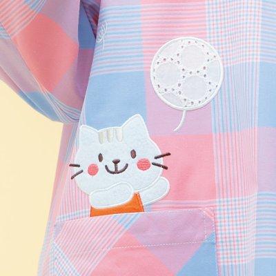 画像2: うさねこスモック ピンク