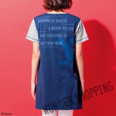 画像1: <ディズニーキャラクター> シルエットTシャツ ドナルド まとめ買いできます