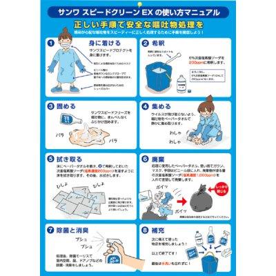 画像2: 嘔吐物処理キット サンワスピードクリーンEX