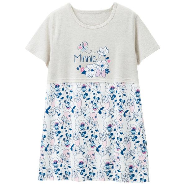 画像1: <ディズニーキャラクター> プリントロングTシャツ ミニー (1)