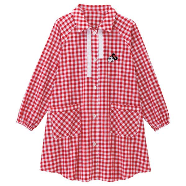 画像1: <ミニー>ギンガムスモックシャツ (1)