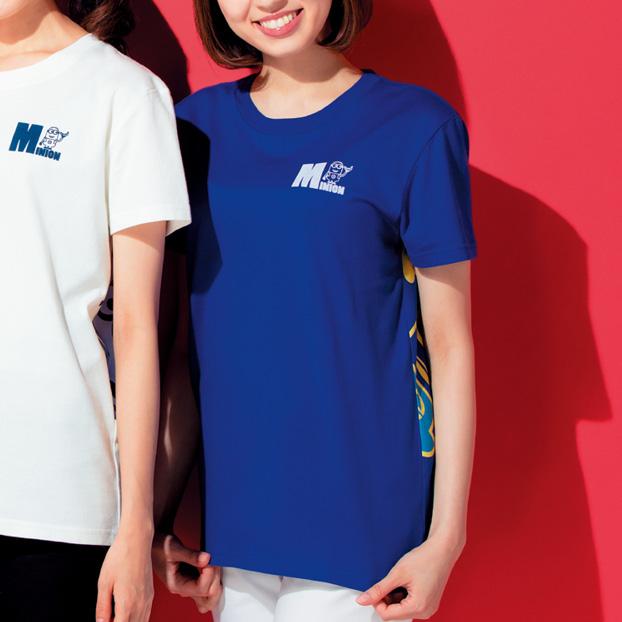 画像1: ミニオンカラフルTシャツ マリンブルー M・L 2860円(税込) 特L 3080円(税込)  (1)