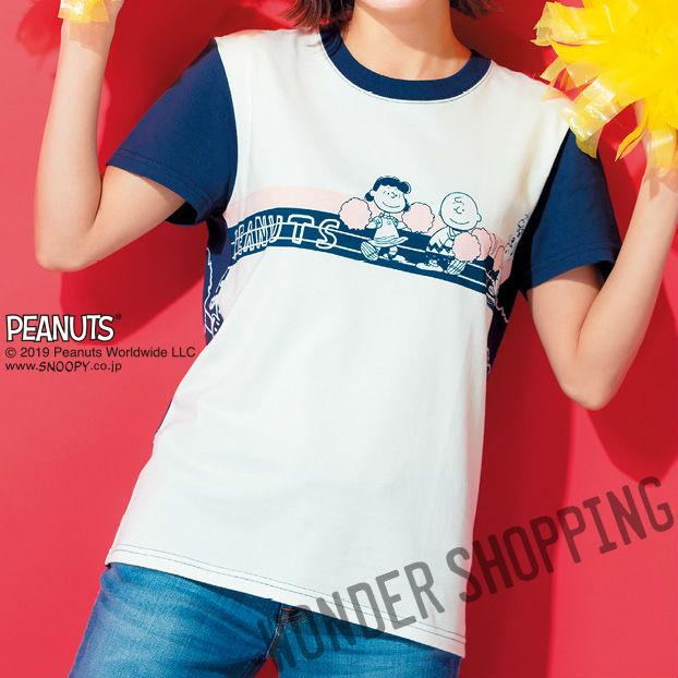 画像1: スヌーピー・チアTシャツ ネイビー (1)