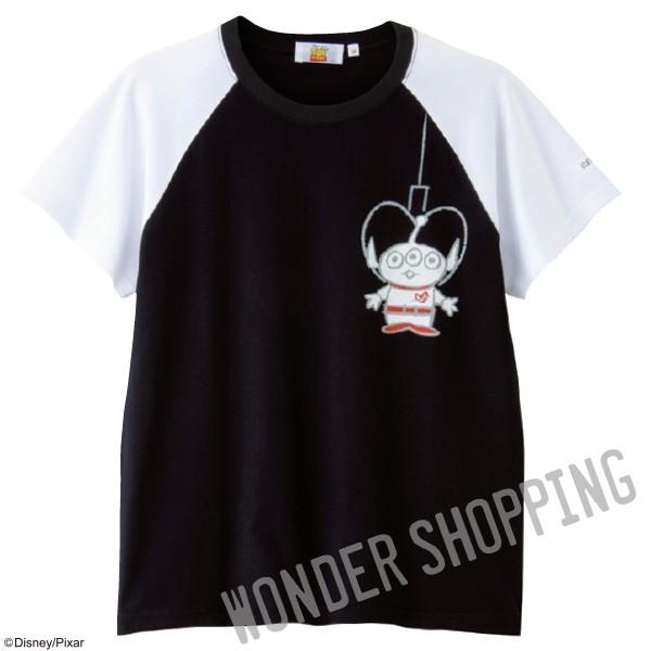 画像1: <ディズニーキャラクター>ラグランTシャツ エイリアン M・L 1833円 特L 2730円 (1)