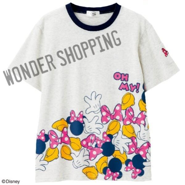 画像1: <ミッキー&ミニー>プリントTシャツ ミニー  (1)