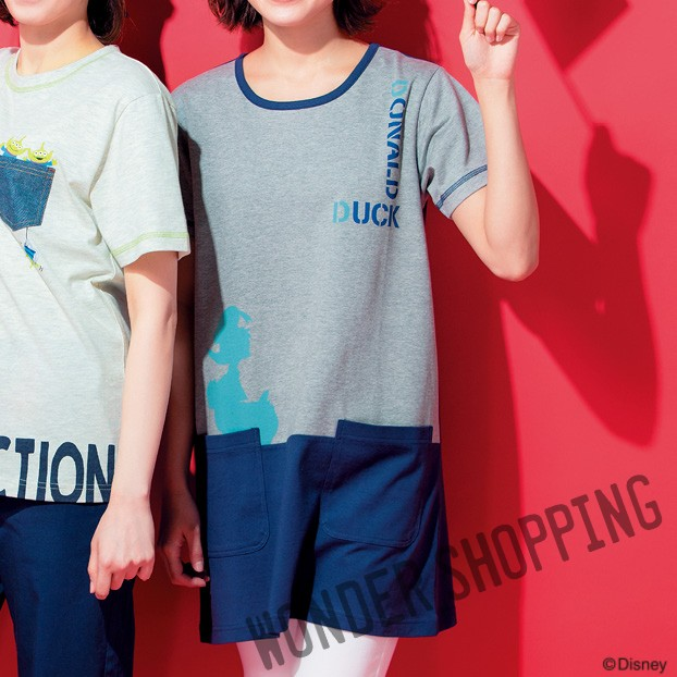 画像1: <ディズニーキャラクター> シルエットTシャツ ドナルド まとめ買いできます (1)