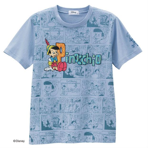 画像1: <ディズニーキャラクター> クラシックTシャツ ピノキオ まとめ買いできます (1)