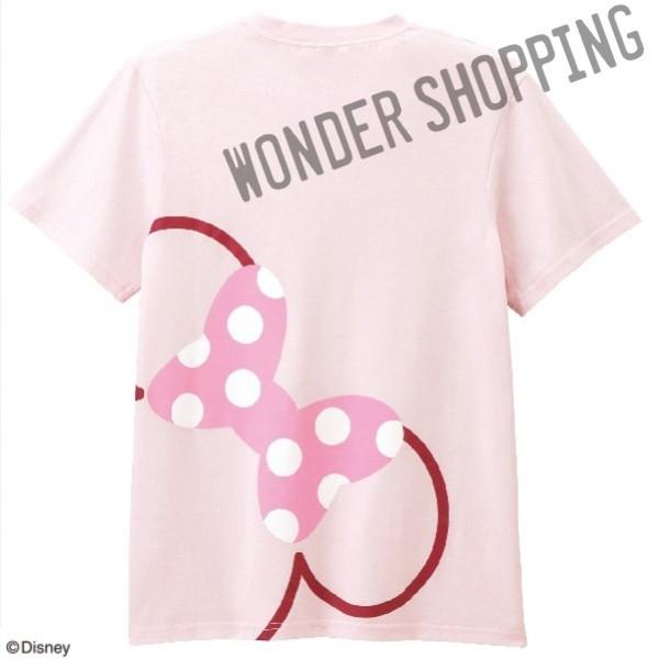 画像1: <ミニー>フェイスTシャツ Lのみ (1)