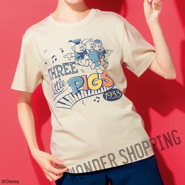 画像1: <ディズニーキャラクター> クラシックTシャツ 三匹の子ぶた まとめ買いできます (1)