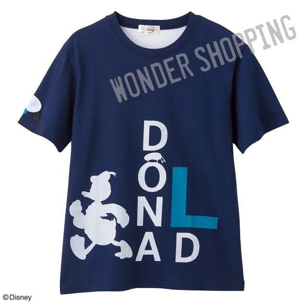 画像1: <ディズニーキャラクター>ロゴTシャツ ドナルド L・特L (1)