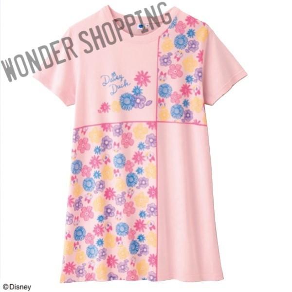 画像1: <ディズニーキャラクター>  プリントロングTシャツ  デイジー (1)