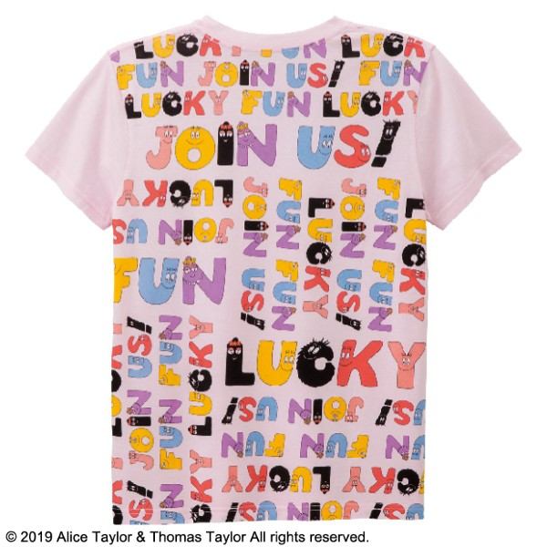 画像1: バーバパパジョイナスTシャツ ピンク M (1)