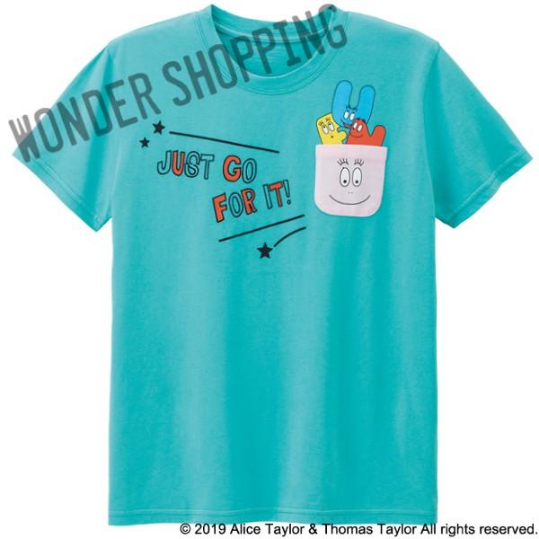 画像1: バーバパパポケットTシャツ ミント M・L 2800円 特L 3000円 (1)