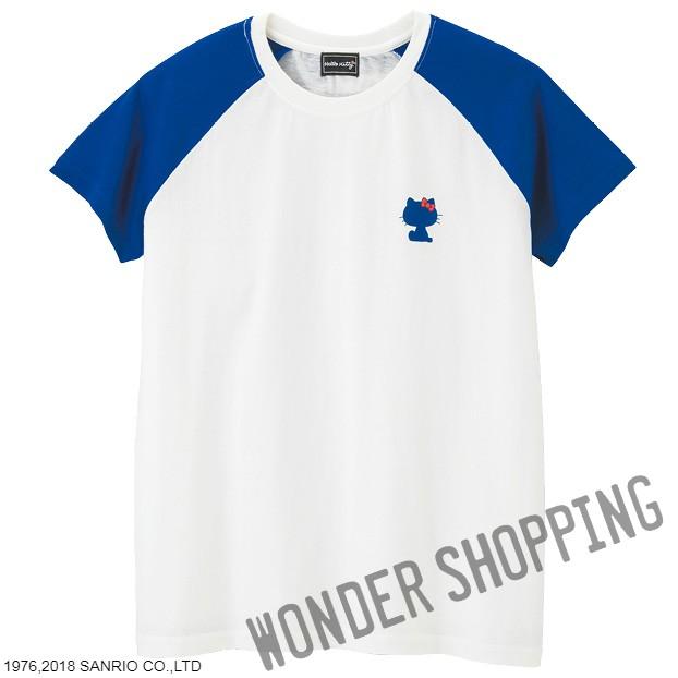 画像1: ハローキティパネルTシャツ 紺 まとめ買いできます M・L 2800円 特L 3000円 (1)