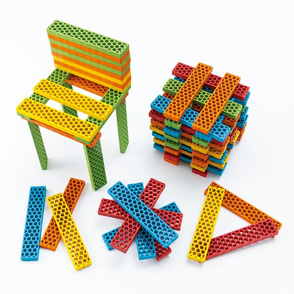 画像1: ビオブロ ハローボックス(5色100ピース) (1)