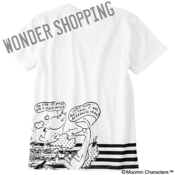 画像1: ムーミン コミックTシャツ 白 M・L 2852円 特L 3055円 (1)