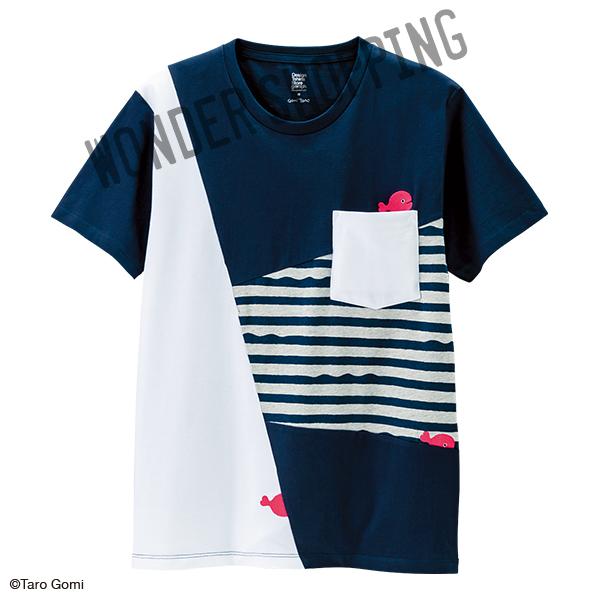 画像1: 五味太郎Tシャツ きんぎょがにげた きんぎょさん (1)